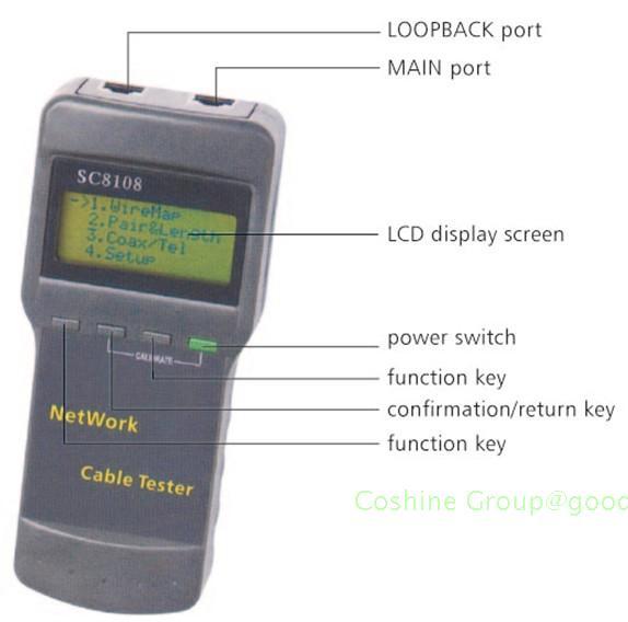 Probador port/átil para cables de tel/éfono SC8108/RJ45/red LAN Probador de ubicaci/ón de cables