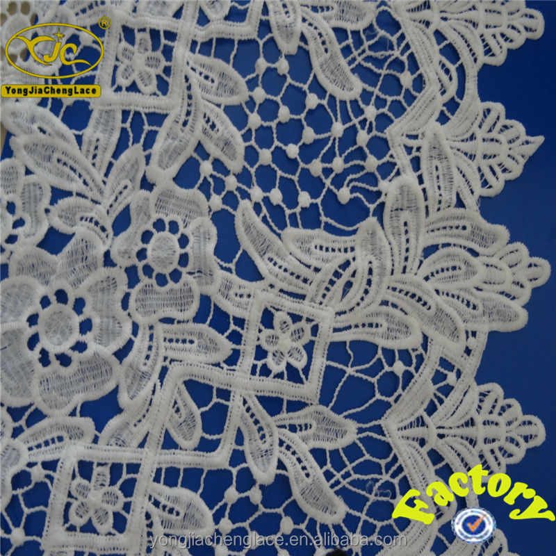 YJC16475 Embroidered african guipure lace it is china manufacturer chemical fabric