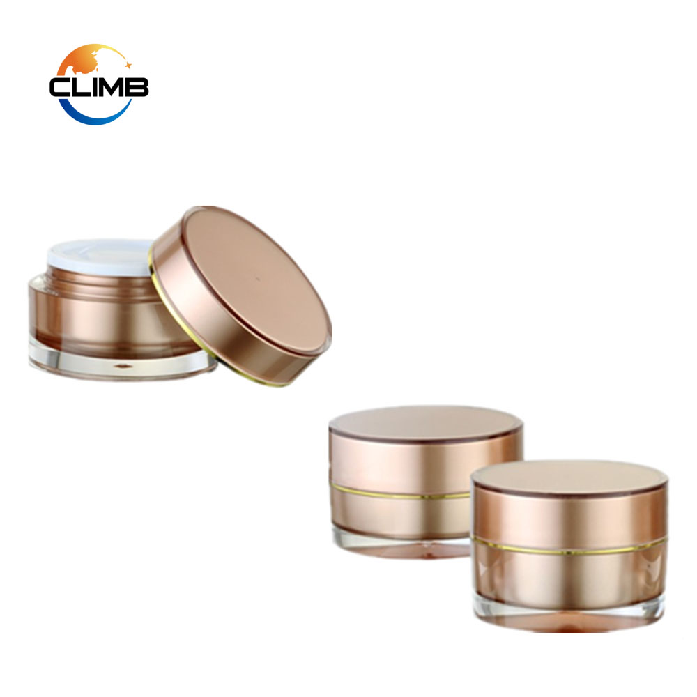 Custom Color Round Pearl White Cosmetic Jar 15g 30g 50g Round Acrylic Cosmetic Small Plastic Jar 200ml