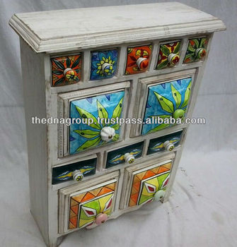 Wooden Box Ceramic Drawer A