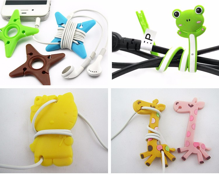 cute wire silicone cable holder clip,wire management