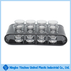 Plastic wine glass tray holder