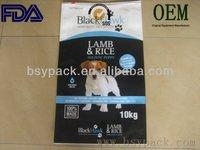 slider zipper plastic bag for packing dog food FDA assured free shipping chinese manufacturer/exporter