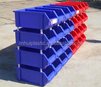 warehouse stackable plastic storage bins