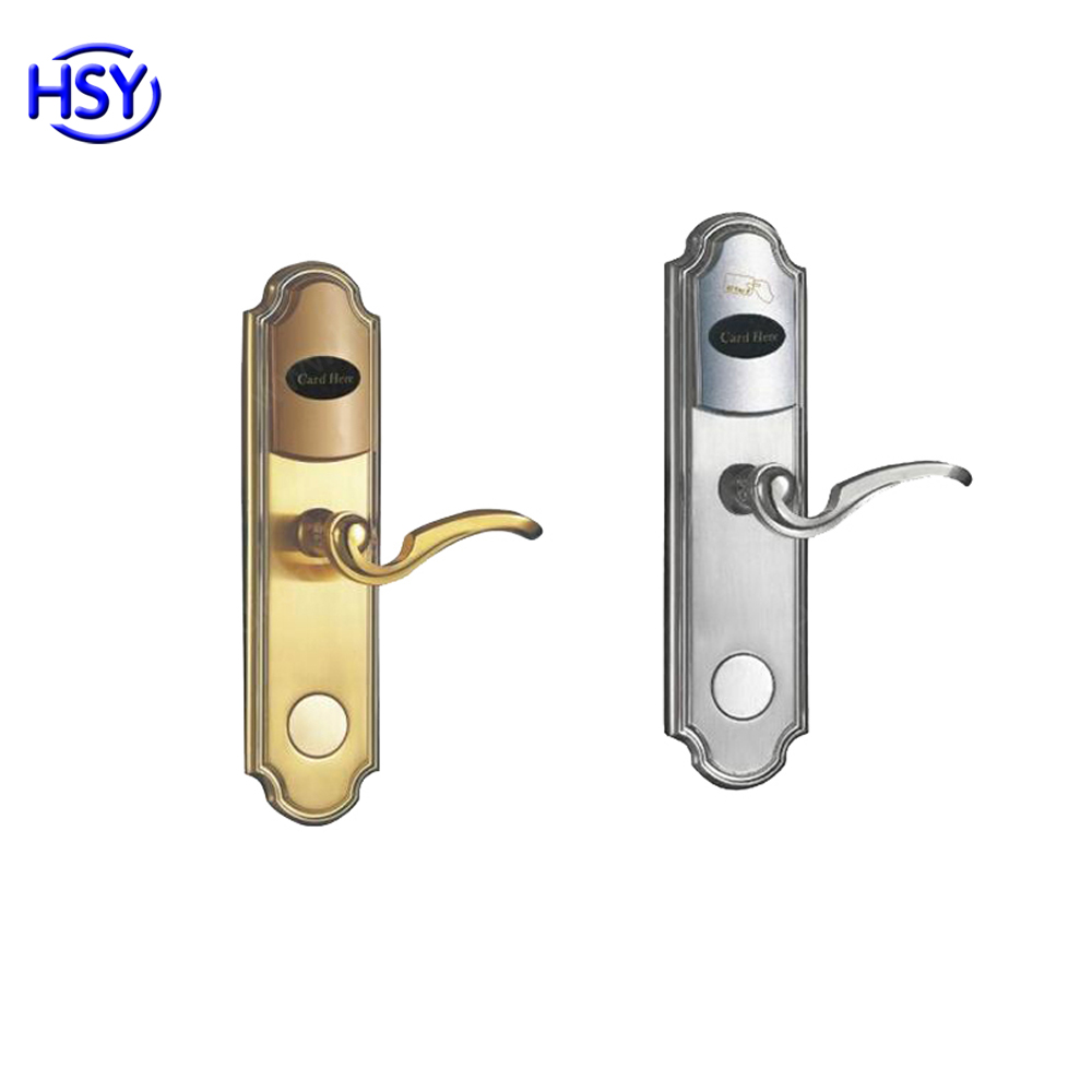 HSY-218 Hot selling Key Card Hotel Door Lock System Stainless Steel Electronic RFID Card Hotel Door Door Lock