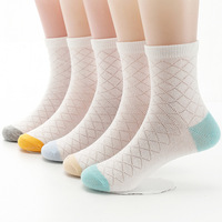 Children's socks summer thin section mesh cotton socks cartoon breathable baby socks in the tube AG628