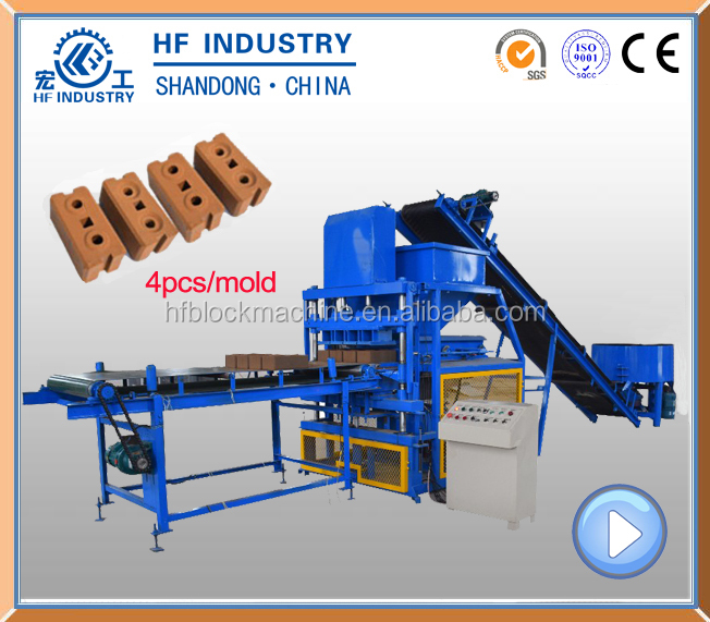 4-10 hydraform cement red soil ISSB machine concrete hollow block machine