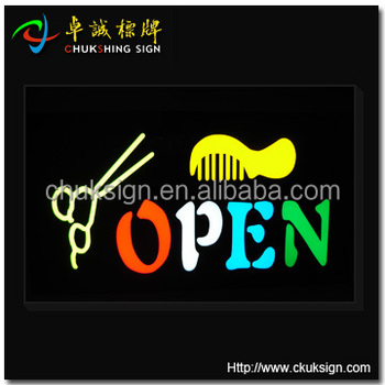 Barber Shop Window Sign Open Outdoor For Advertising Sign Led Open ...