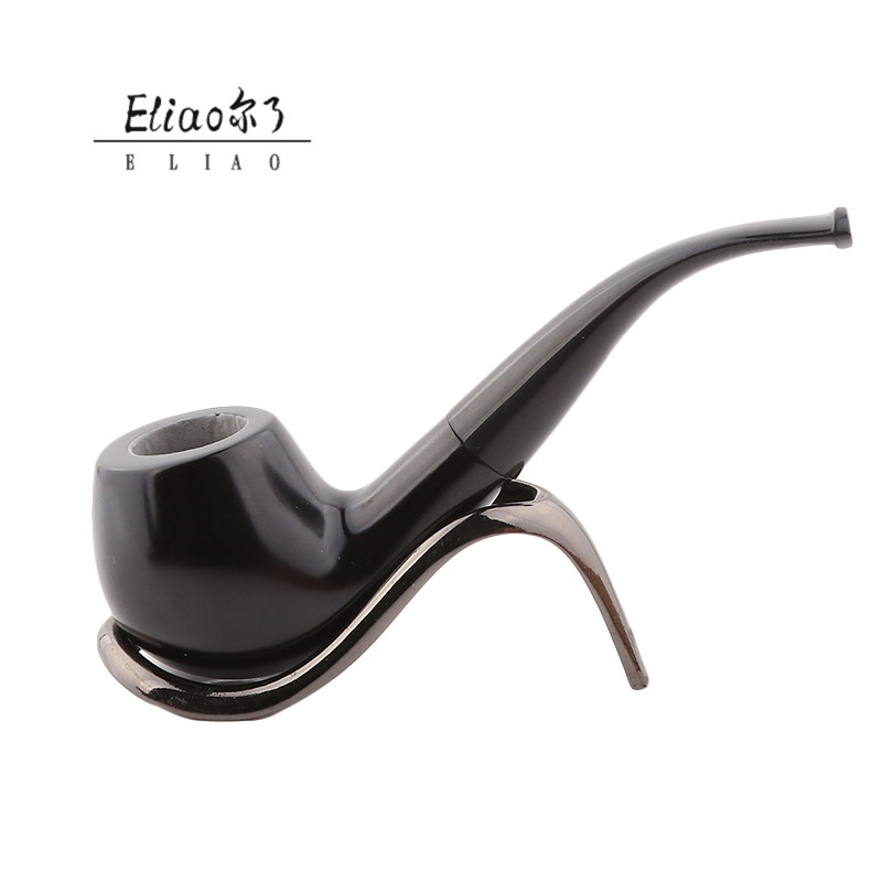 Eliao Wholesale Hand smoking pipe New Style Smoking Pipe Ebony Tobacco pipe smoking
