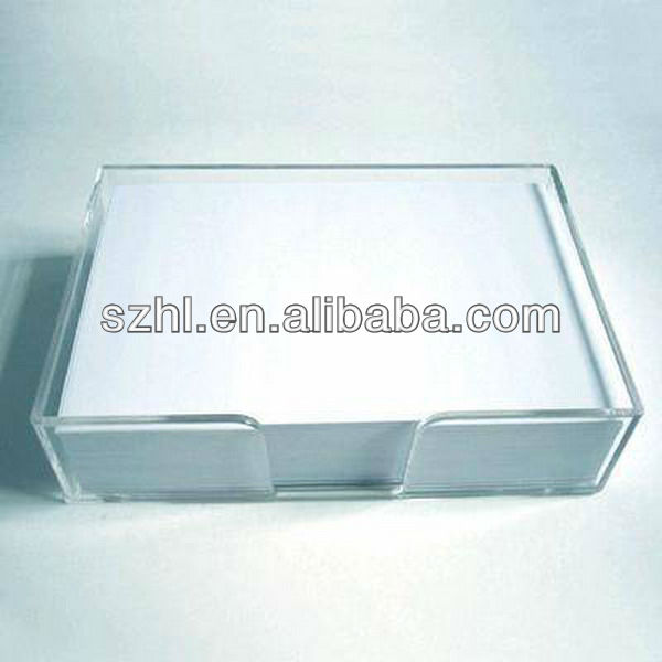 Acrylic memo holder acrylic notepad holder acrylic note paper holder
