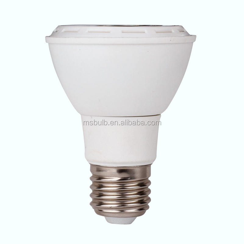 Jiaxing LED PAR light PAR 20 LED bulb spotlight lampara dimmable E27 7W TUV CE approved Mingshuai factory