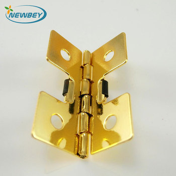 Gold Plated Small Jewelry Box Hardware Spring Hinges D01 In 3525mm