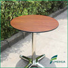 Wood grain color phenolic resin outdoor high top table