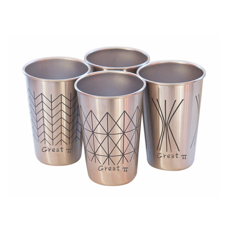 Stackable 16 oz Disikat Stainless Steel Cangkir Pint