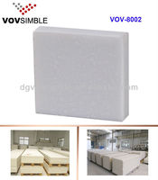 Easy Fabrication Big Solid Surface Sheet /White Polyester Resin Sheet For Kitchen Countertop