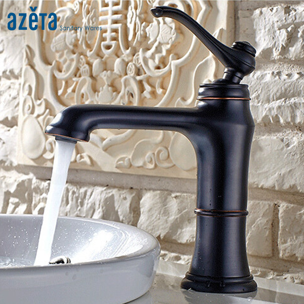 Classical ORB Washroom Brass Deck Mounted Single Lever Wash Basin Mixer Tap