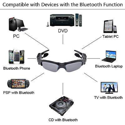 Óculos Espião Com MP3 Bluetooth estéreo Filma e tira Fotos 8GB de ... f5f63d1902