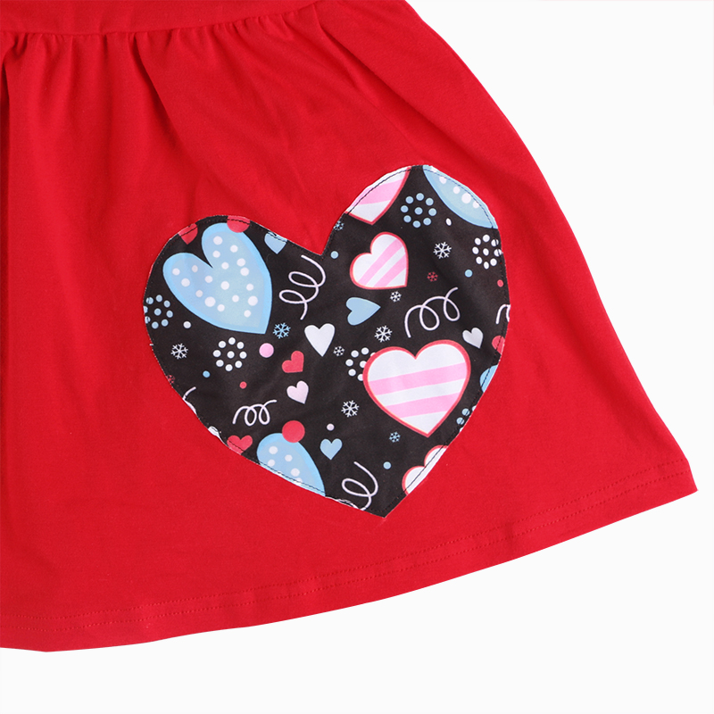 2019 Valentine's outfit wholesales girls boutique clothing heart print long sleeve top leggings headband 3pc set