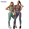 Wholesale Yoga Wear Set Tights Woman Leggings And Sexy Sports Bra