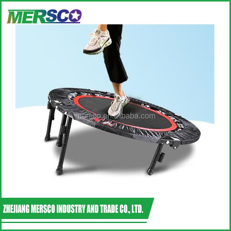 """Adult 40"""" Fitness Mini Trampoline Rebounder With Handle"""