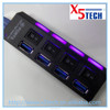 x5tech new design 4 ports USB 3.0 HUB with on/off switch