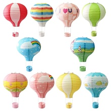 EasternHope Party Hanging 12 inch Rainbow Hot Air Balloon Paper Lanterns Christmas Accessories Birthday Party Wedding decor Set