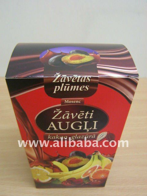Dried fruit in chocolate (Plums)