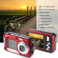 Nice 24MP Max Dual Screen Wateproof Digital Camera Waterproof Photo Camera