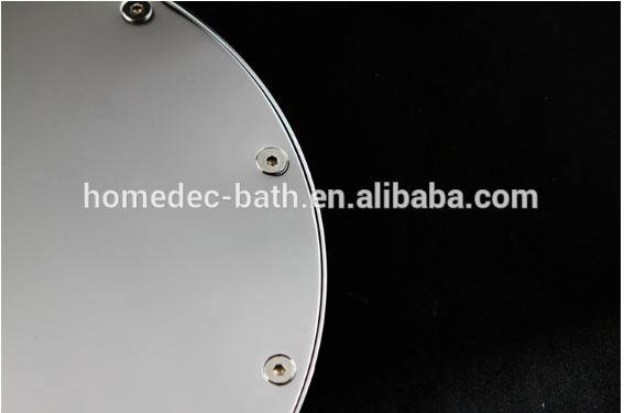 Round shape 8 inch Brass LED shower head rainfall With Color changing,Factory direct sale