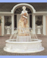 beautiful marble fountain in the garden