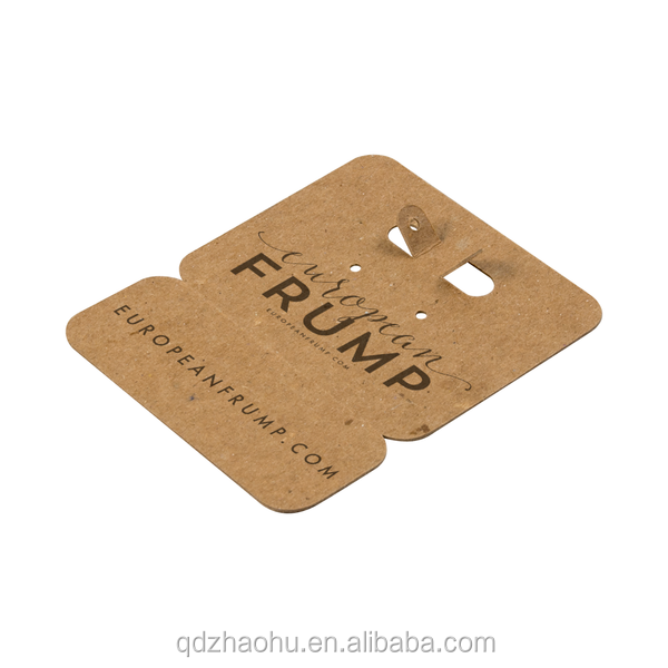 Factory Colorful Custom Brand Printing Kraft Paper Label Vintage Hang Tag with Safe Pin for Clothes