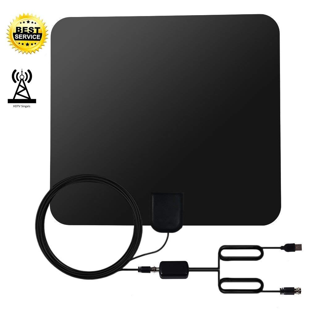 TV Antenna Indoor Amplified HDTV Antenna, TV Antenna for Digital TV Indoor 50 Mile Range with Detachable Amplifier Signal Booste