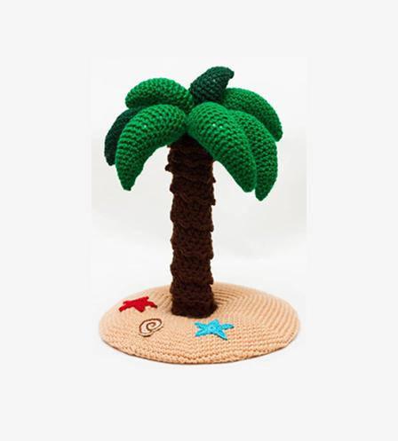 Palmeira crochet chocalho. decoração do quarto do bebê brinquedo