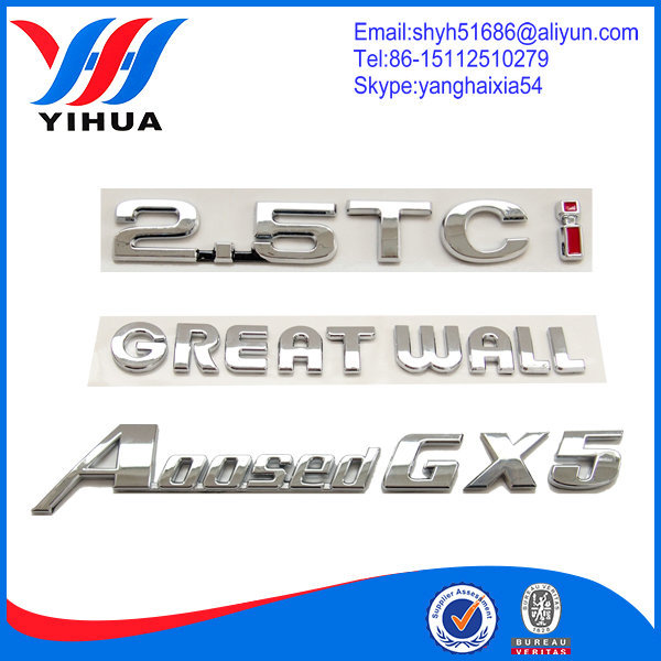 Chrome Number And Gold Alphabet Letter Stickers For Cars Buy - Letter stickers for cars