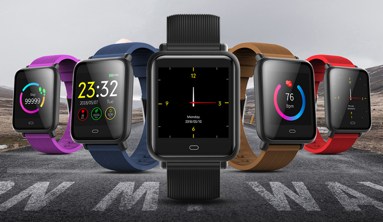 Grosir Smart Watch Q9 Smart Gelang Fit Bit Ponsel Smart Band