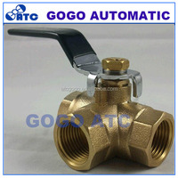 3 way ball valve SS304 SS316 small water switch stainless steel 2 inch ball valve