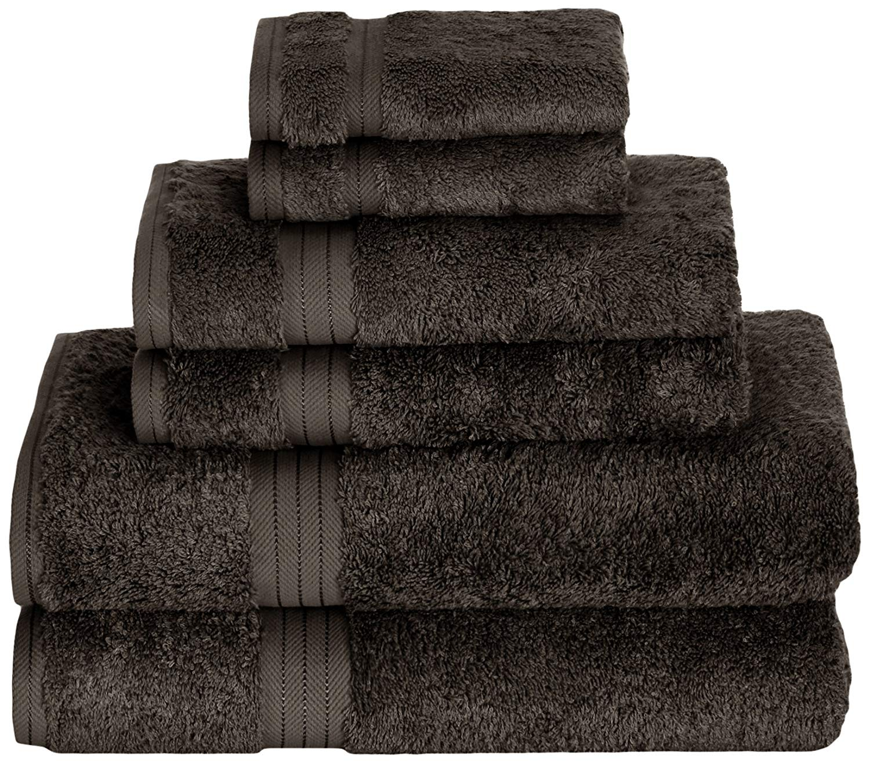 Daisy House Rayon Derived from Bamboo Towel Set (2 bath, 2 hand & 2 wash), Slate