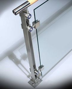 SS 304/316 Stainless steel laminated glass balustrade post for balcony