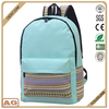 2017 Japan and South Korea style waterproof pure and fresh strip print polyester casual school backpack