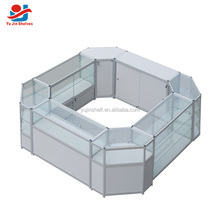 cosmetics / jewelry / mobile phone customized modern glass display cabinet / wood and glass showcase/ glass dispay kiosk