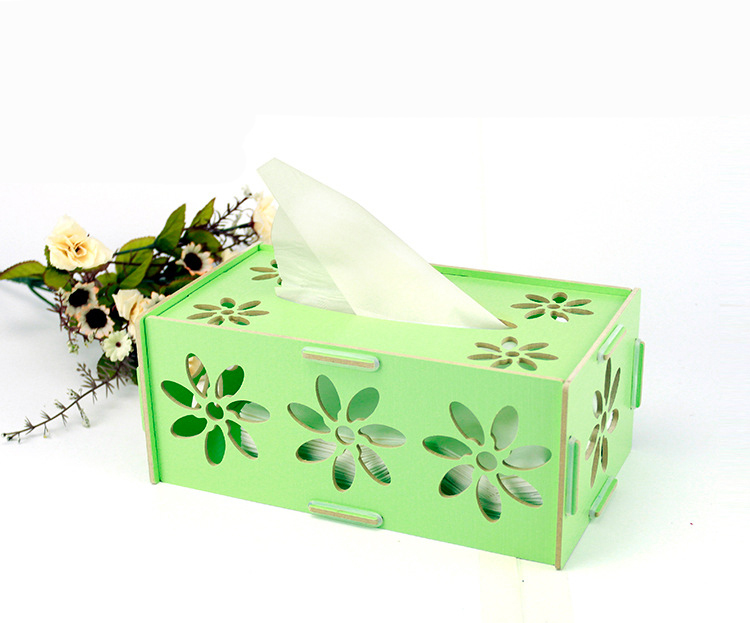 Hollow Out Pattern, Style Novel Fashion Convenience Office or Home Wood Paper Storage Box