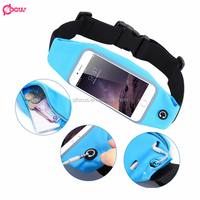 2016 High Quality Waterproof Running Sport Waist Bag Mobile Phone Pouch Wallet Case Belt Bag for iPhone 6