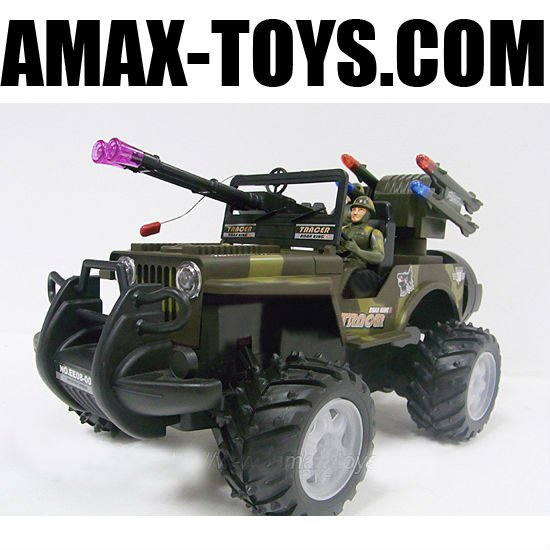 rb-5733209b1 6ch top quality rc off road Army Jeep with light
