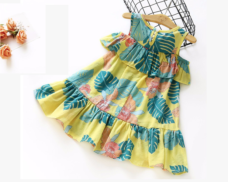 SEV.WEN Hot selling summer girl dress floral print kid clothes casual baby dress