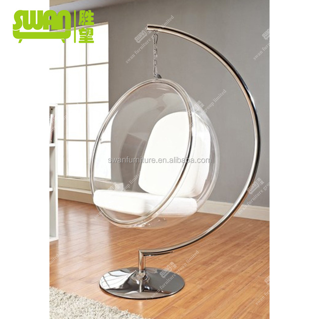 furniture acrylic hanging bubble chair