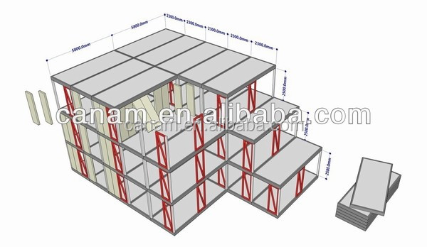 CANAM- House Holiday Hotelflat pack living container 20 ft ready made house