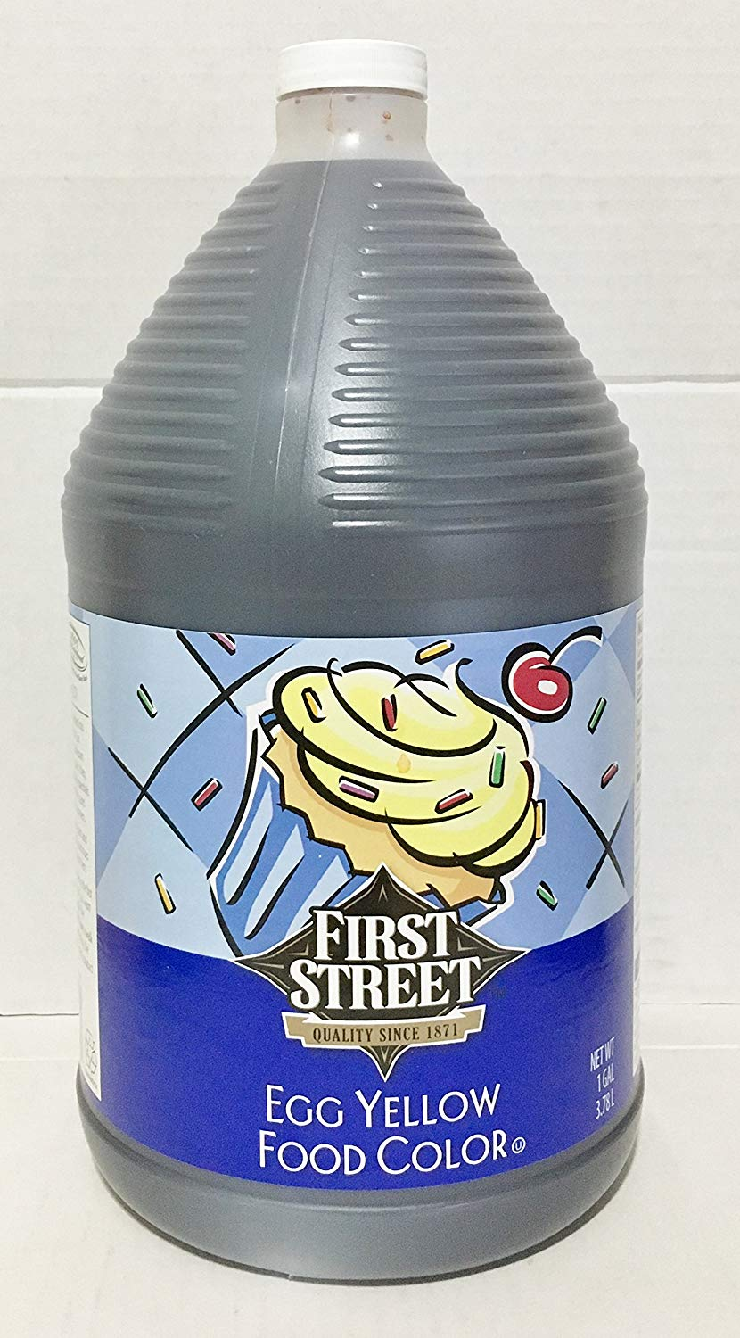 First Street 1 Gallon Egg Yellow Food Color Easter Egg Dye Brand (3.78 Liter Total)