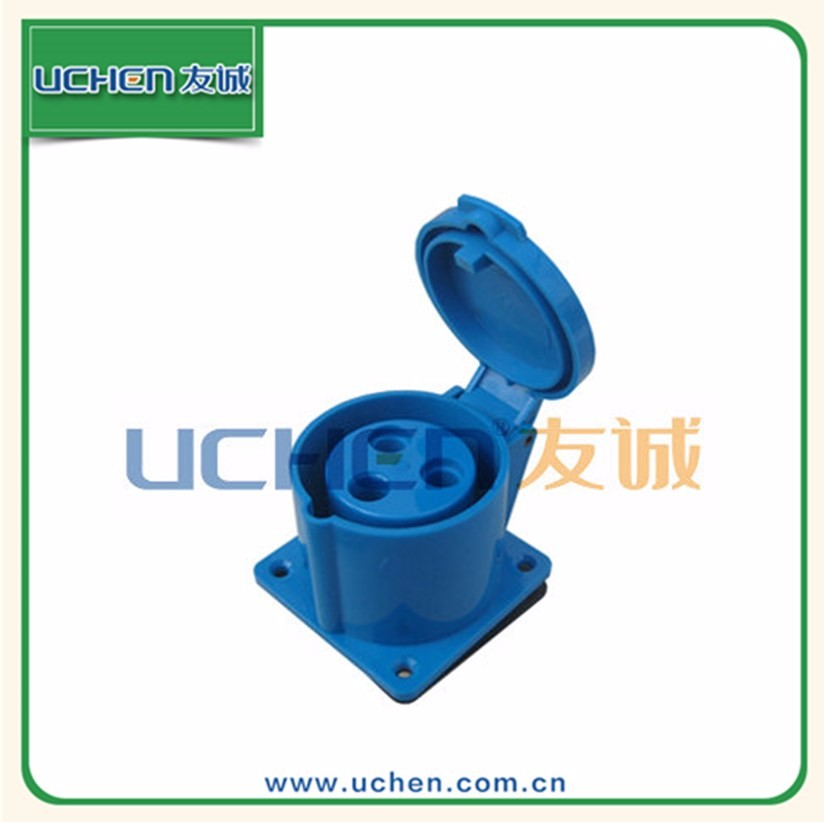YG ZM-017 custom high quality IP44 iec 309 industrial hospital 63a plug 32a socket