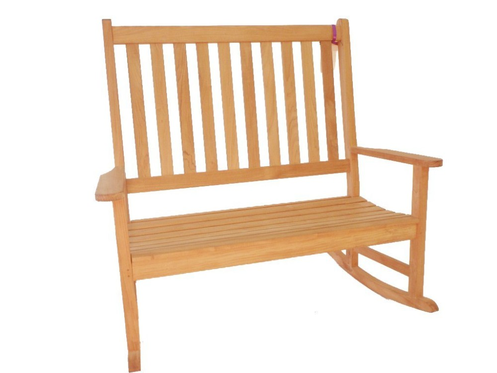 High Back Double Rocker Rocking Chair Bench High Back