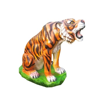 Amusement park products garden ornaments fiberglass tiger statue